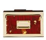 Labryinth Clutch in Burgundy and Gold