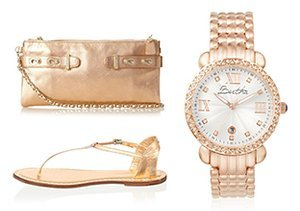 Gilded Touch: Golden Accessories