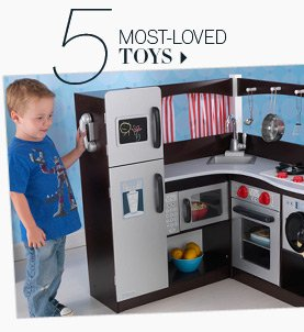 5. Most-loved toys.