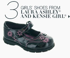 3. Girls shoes from Laura Ashley® and Kensie Girl®.