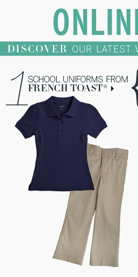 1. School uniforms from French Toast®.