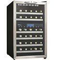 Danby Wine Cooler - Dual Zone with Stainless Trim Door and LED - 30 Bottle