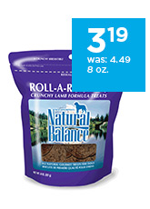 Natural Balance Roll-A-Rounds Crunchy Lamb Formula Treats for Dogs