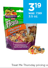 Kaytee Fiesta Tropical Fruit and Yogurt Mix Small Animal Treats