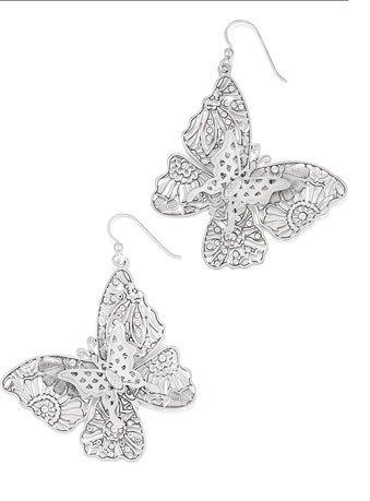 Lace wings earrings