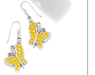 Sunny Wings French Wire Earrings