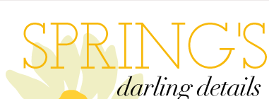 Spring's darling details