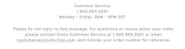 Customer Service - 800.960.2231