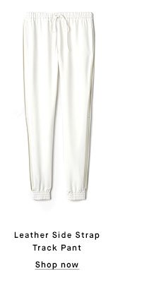 Leather Side Strap Track Pant - Shop now