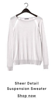 Sheer Detail Suspension Sweater - Shop now