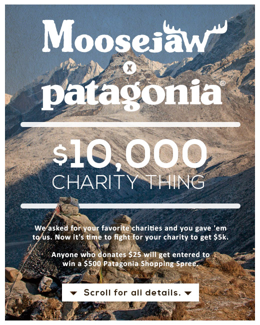 Moosejaw Patagonia Charity Thing