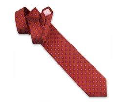 Holywell Flower Woven Tie - Orange/Pink