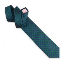 Holywell Flower Woven Tie - Green/Blue