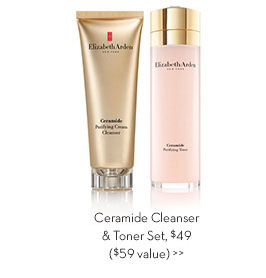 Ceramide Cleanser & Toner Set, $49 ($59 value).