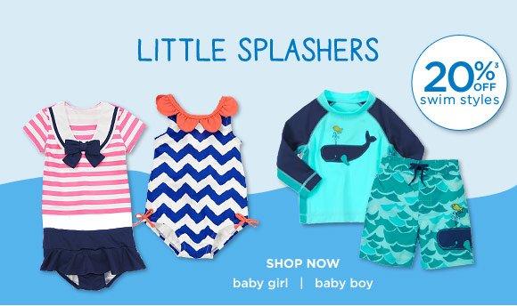 Little Splashers. 20% off(3) swim styles. Shop Now