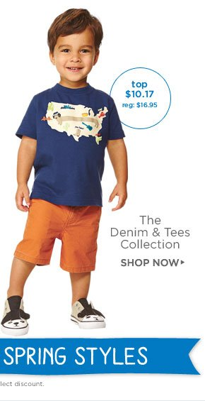Easy-To-Wear Spring Style. The Denim & Tees Collection. Shop Now. Top $10.17 (reg. $16.95). All prices reflect discount.