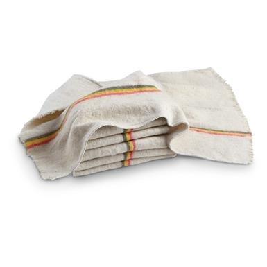 6-Pk. New Belgian Military Surplus Cotton Towels