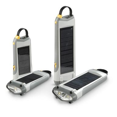 4-Pc. Solar Rechargeable Flashlight Set