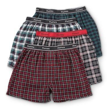 4 Hanes® Flannel Boxers