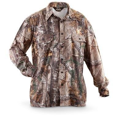 Guide Gear® Airmesh Realtree Xtra® Long-sleeved Camo Hunting Shirt