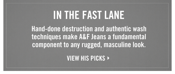 IN THE  FAST LANE VIEW HIS PICKS
