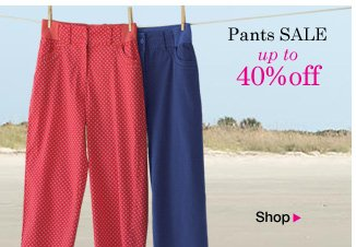Pants Sale up to 40% OFF