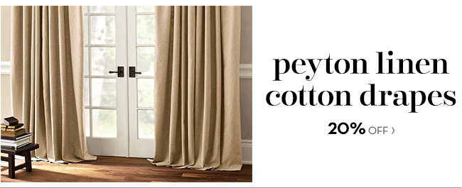peyton linen cotton drapes