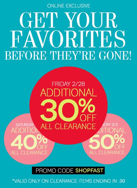 Beat the Rush & Take an Additional 30% off All Clearance Today (or Save More Later). Shop NOW for the best selection.