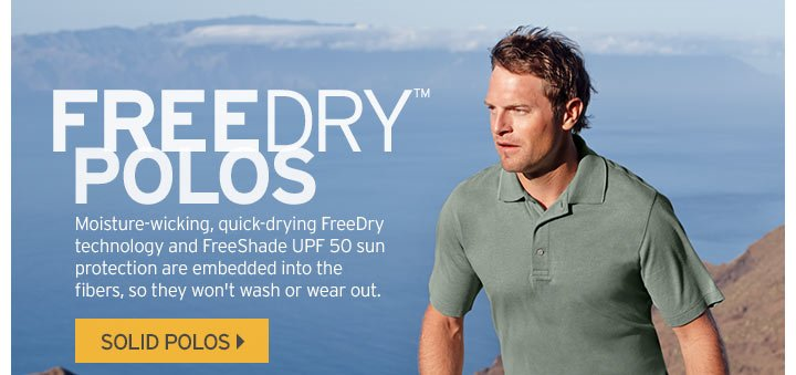 Shop Men's FreeDry Solid Polos