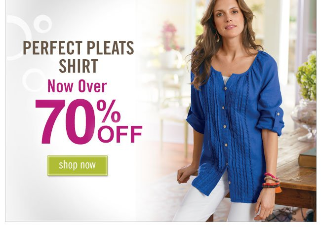 Perfect pleats shirt