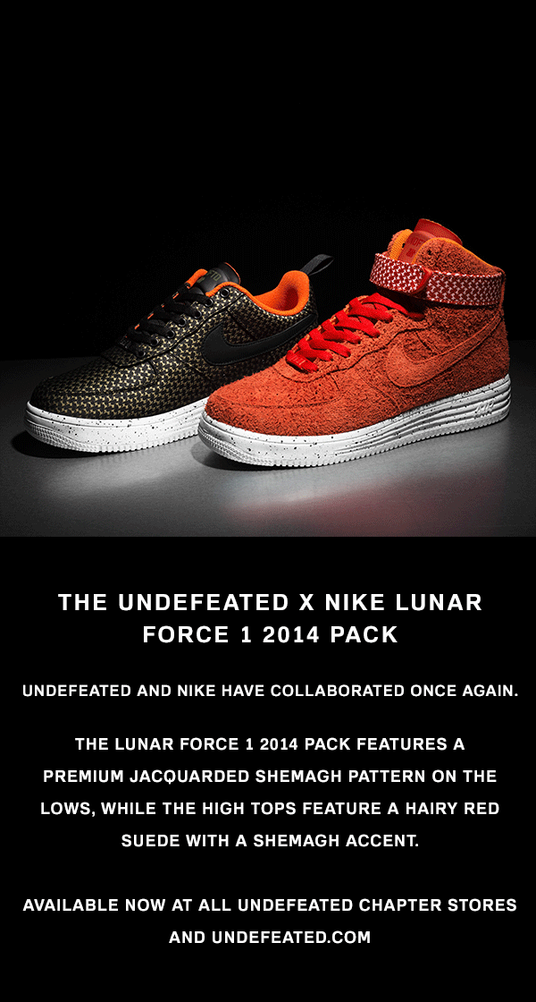 Undefeated x Nike Lunar Force 1 Pack 2014 Available Now At Undefeated Stores and Undefeated.com