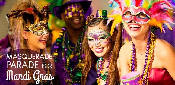 MASQUERADE PARADE FOR Mardi Gras