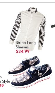 Stripe Long Sleeves $34.99
