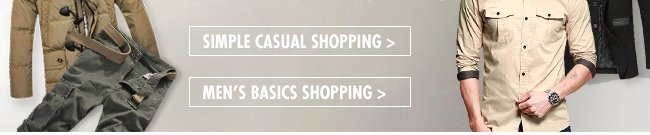 Simple Casual & Men's Basics Shopping