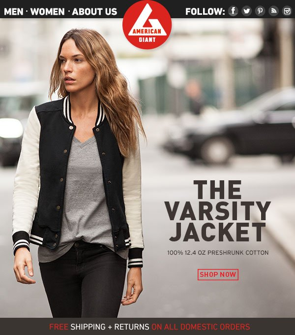 Limited-Edition: The Varsity Jacket for Women.