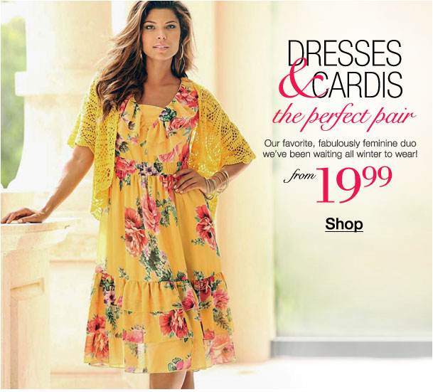 Dresses and Cardis! The perfect pair from $19.99!