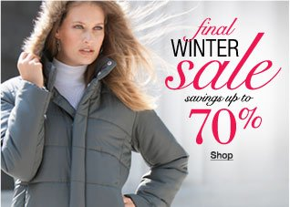 Final Winter Sale! Savings up to 70%!