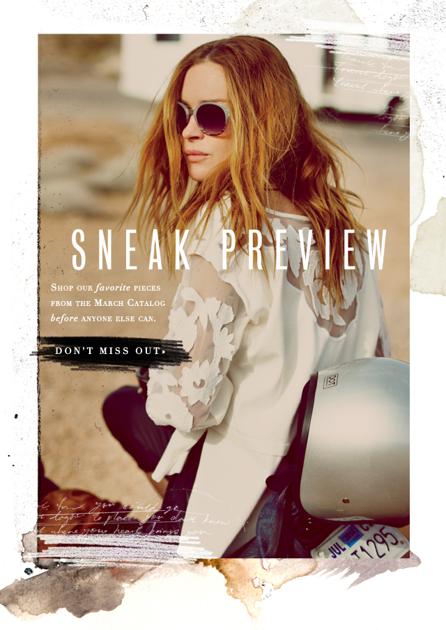 March Catalog Sneak Preview