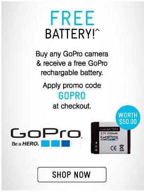 Get A FreeGoPro Battery