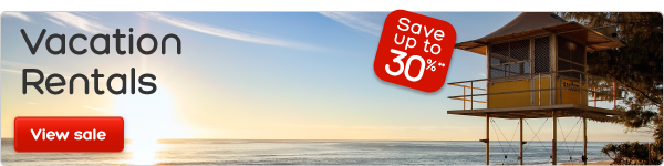 Vacation Rentals - Save up to 30%**