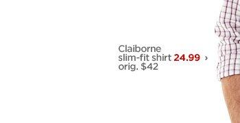Claiborne slim-fit shirt 24.99 › orig. $42