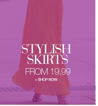 stylish skirts from 19.99 - shop now