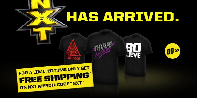 New: NXT Authentic Ts! Get free shipping with code NXT