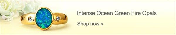 Intense Ocean Green Fire Opals
