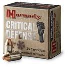 Hornady® Critical Defense™ 9mm Luger 115 Grain FTX™ 25 rds.