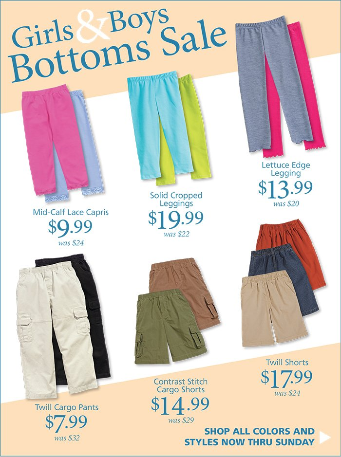 3-Day Bottoms Sale