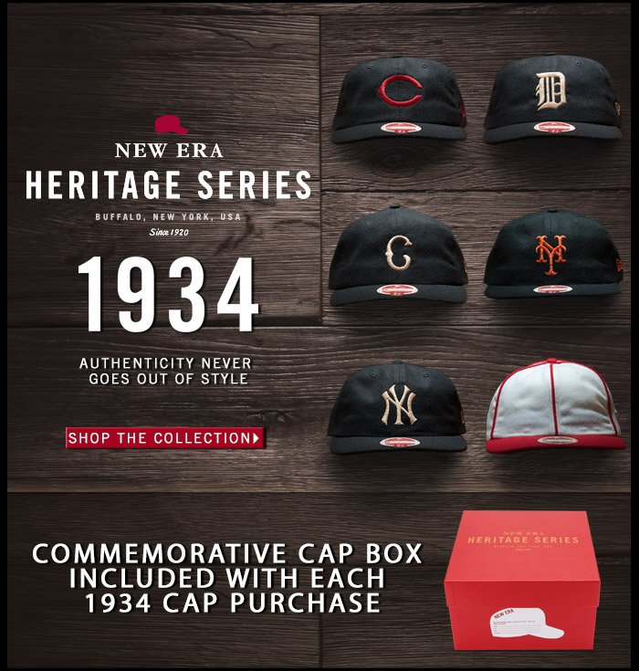 New Era Heritage Series: The Limited Edition 1934 Collection - Shop Now