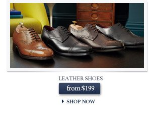 Leather Shoes from $199 - SHOP NOW