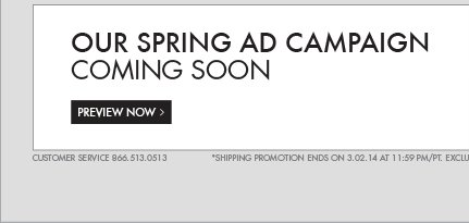 OUR SPRING AD CAMPAIGN COMING SOON