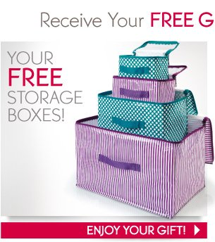 YOUR FREE STORAGE BOXES!